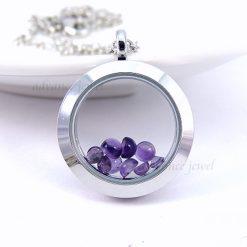 心情寶石項鍊-紫水晶