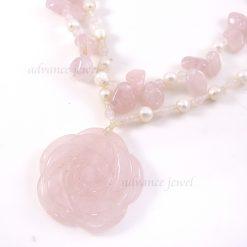 粉晶玫瑰項鍊