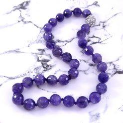 紫水晶切角珠項鍊