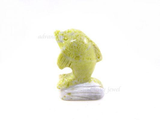動物雕刻-海豚-芥辣石