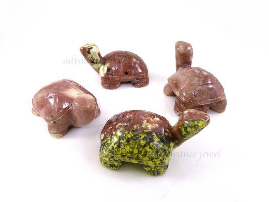 動物雕刻-烏龜-紅梅花