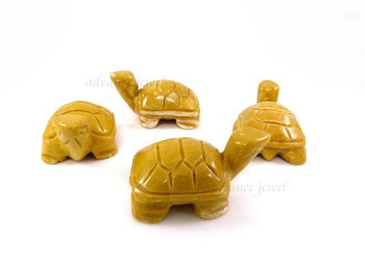 動物雕刻-烏龜-黃石