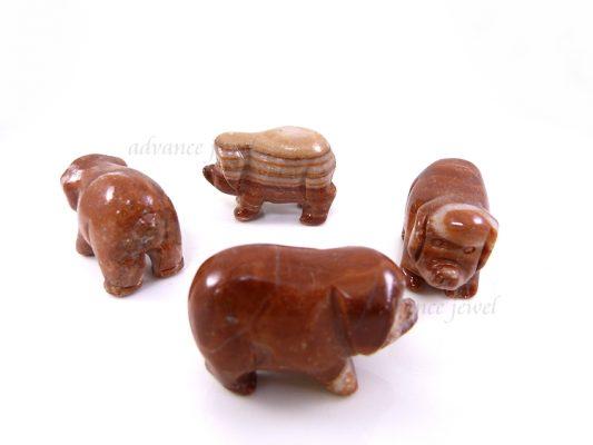 動物雕刻-豬-大陸紅石
