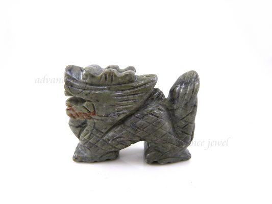 動物雕刻-龍-灰石
