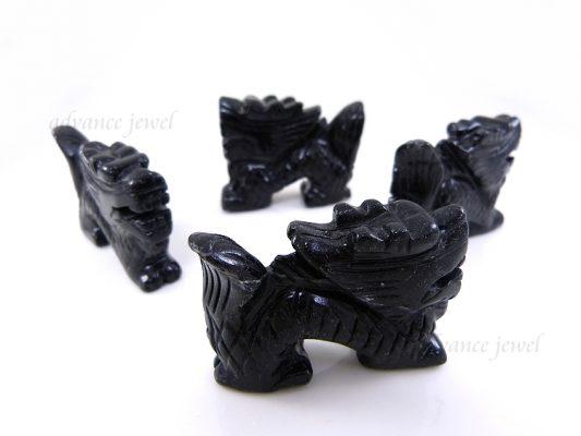 動物雕刻-龍-黑石